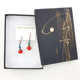Crimson and Teal Nomad Earrings