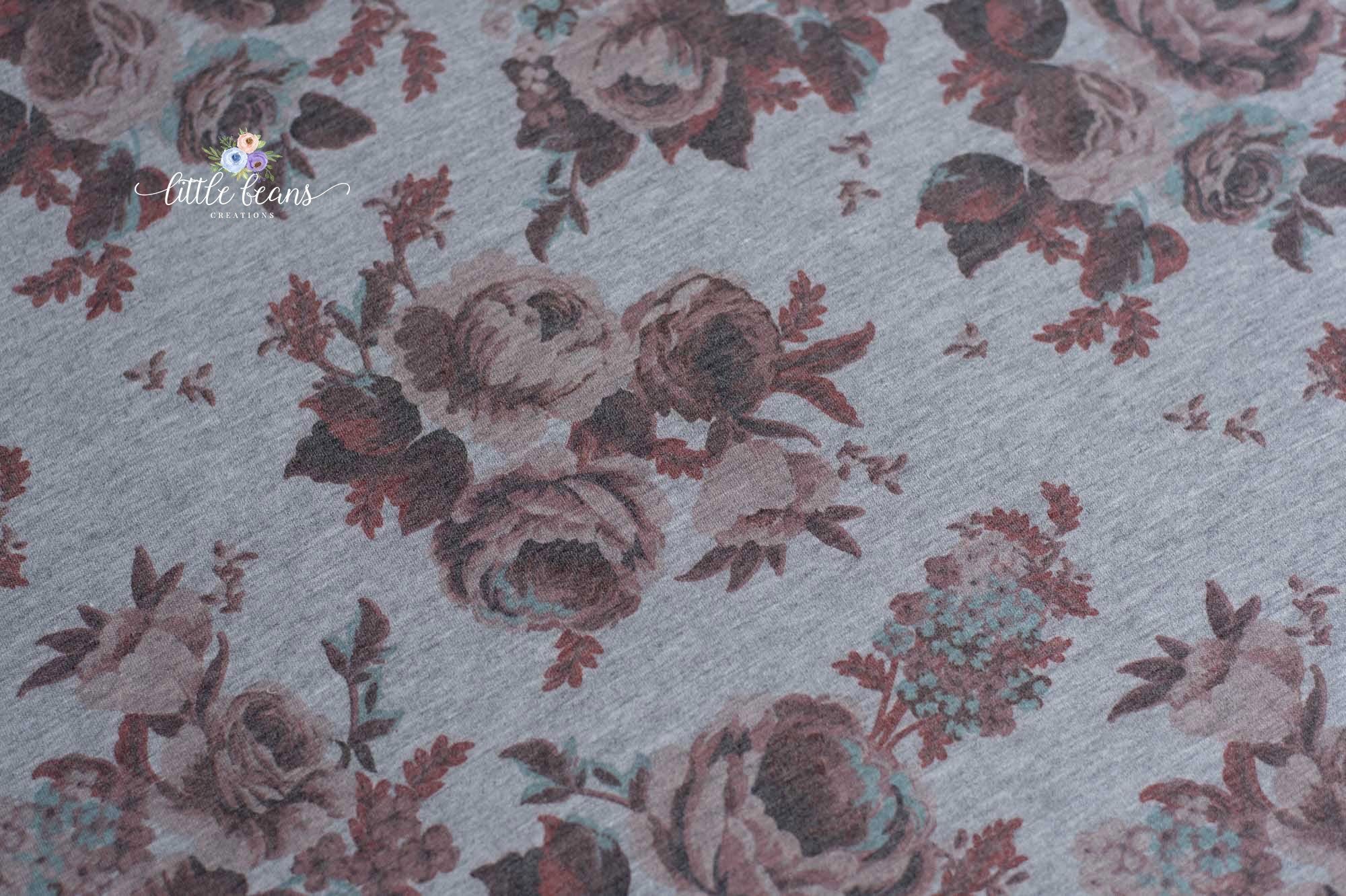 Floral Backdrop on Grey