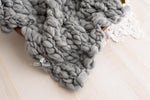 Grey Handspun Merino Layer