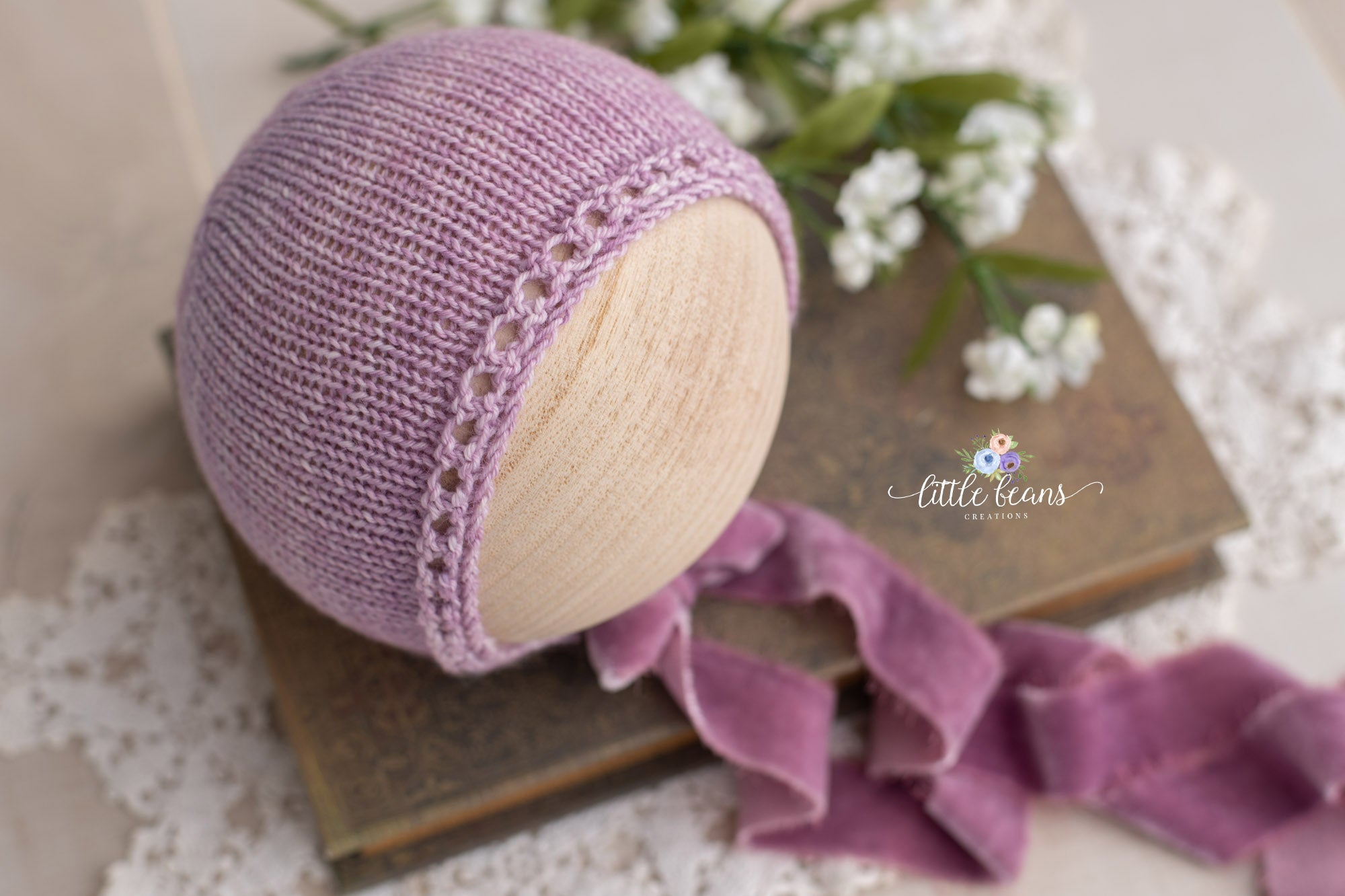Lilac Handspun Layer and Bonnet