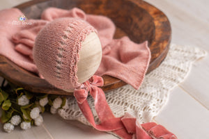 Rose Gold Bonnet and Skinny Wrap
