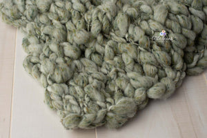 Handspun Green Tweed Layer