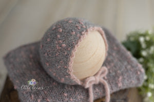 Pebble Bonnet or Wrap in Pink