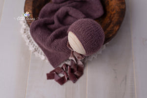 Eggplant Bonnet or Wrap