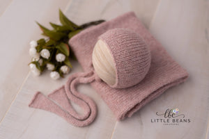 Pale Pink Bonnet or Wrap