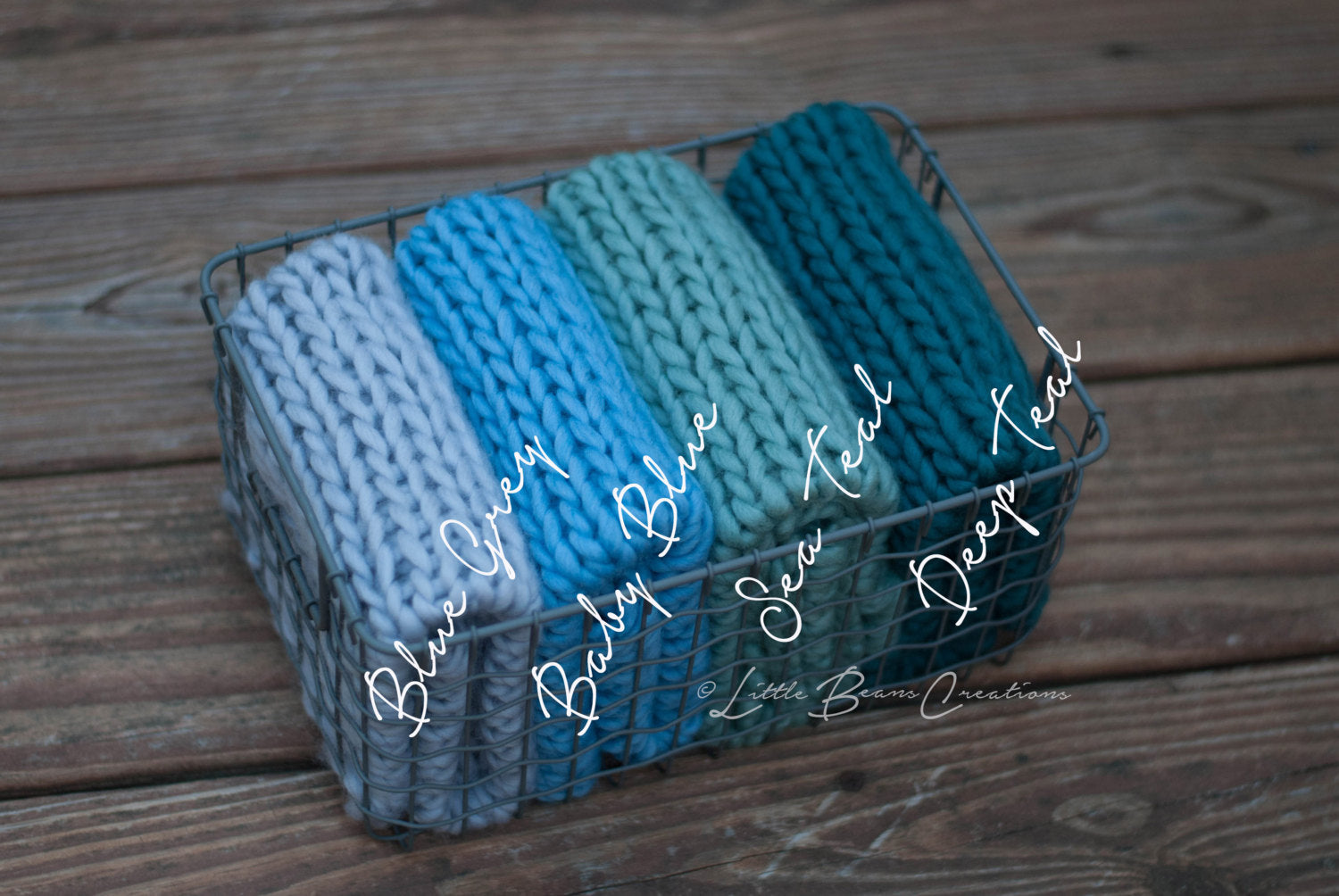 Deep Teal Mini Blanket