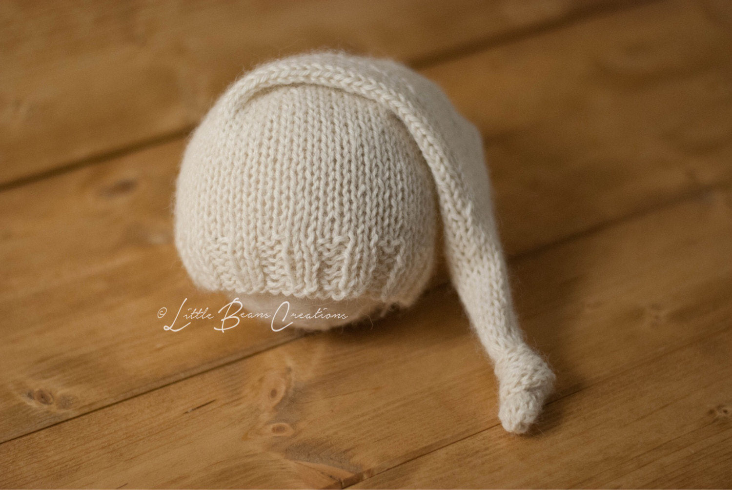 Cream Alpaca Sleepy Hat