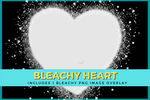 BLEACHY HEART Digital Download - Make Your Own Bleach Look Designs - T-shirt Mock Up MockUp Image - Feminine Mock Up - Flat Lay - 3/21