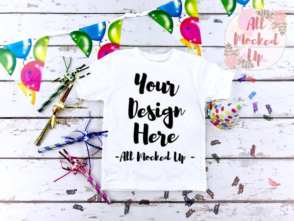 Next Level 3310 Boys White T-shirt Tshirt Mock Up MockUp Image Birthday Party Theme  - Shirt Mock Up - Flat Lay Image - Flatlay -  1/19