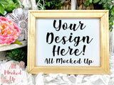 Canvas Sign - Natural Colored - Reverse Canvas Mock Up BLANK Sign Mock Up Mock Up Image - Styled Mock Up - Household Décor Mock Up - 3/21