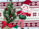 BOY Christmas Elf Plush Mock Up MockUp Image - Christmas Holiday Theme -  Flat Lay Image - Flatlay - Styled Mock Up - 11/19