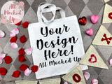 Liberty Bags 8801 White Canvas Tote Bag Mock Up MockUp Image - Bag Mock Up - Flat Lay Flatlay - Valentine's Day Mock Up 1/20