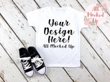 ARB Blanks Boys Short Sleeve Shirt Sublimation Mock Up MockUp Image  - Flat Lay Image - Flatlay - Styled Mock Up - 7/19