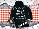 Bella Canvas 3719 Black Hooded Sweatshirt T-shirt Tshirt Mock Up MockUp Image  - Halloween Fall Theme - Flat Lay Image - Flatlay -   8/19
