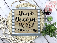 BLANK SIGN Mock Up MockUp Image Wood Sign Mock Up - Flat Lay Image - Flatlay - Styled Mock Up - 4/20