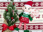 GIRL Christmas Elf Plush Mock Up MockUp Image - Christmas Holiday Theme -  Flat Lay Image - Flatlay - Styled Mock Up - 11/19