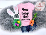 Next Level 3710 Youth LIGHT PINK T-shirt Tshirt Mock Up MockUp Image  - Flat Lay Image - Flatlay - Easter Theme - 3/19