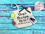 Liberty Bags 8861 Cotton Canvas Tote Bag Mock Up MockUp Image - School Teacher Theme -  Flat Lay Flatlay - 7/19