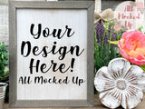 Wooden Distressed BLANK Sign Mock Up Mock Up Image - Styled Mock Up - Household Décor Mock Up - 3/21