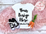 Next Level 3710 Youth White Easter Themed T-shirt Tshirt Mock Up MockUp Image  - Flat Lay Image - Flatlay -  2/19