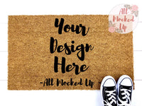 "18"" x 30"" Coir DOORMAT Door Mat Mock Up MockUp Image  - Flat Lay Image - Flatlay - Styled Mock Up - 4/19"