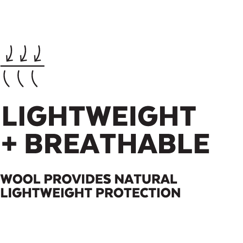 Lightweight + Breathable
