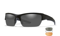 Wiley X - WX VALOR (3 Lens Rust/Smoke Grey/Clear) Matt Black Frame