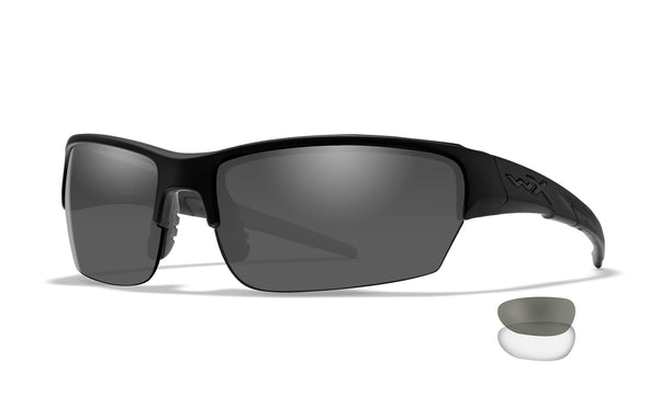 Wiley X - WX Saint 2 Lenses (Smoke Grey, Clear/Matte Black Frame)