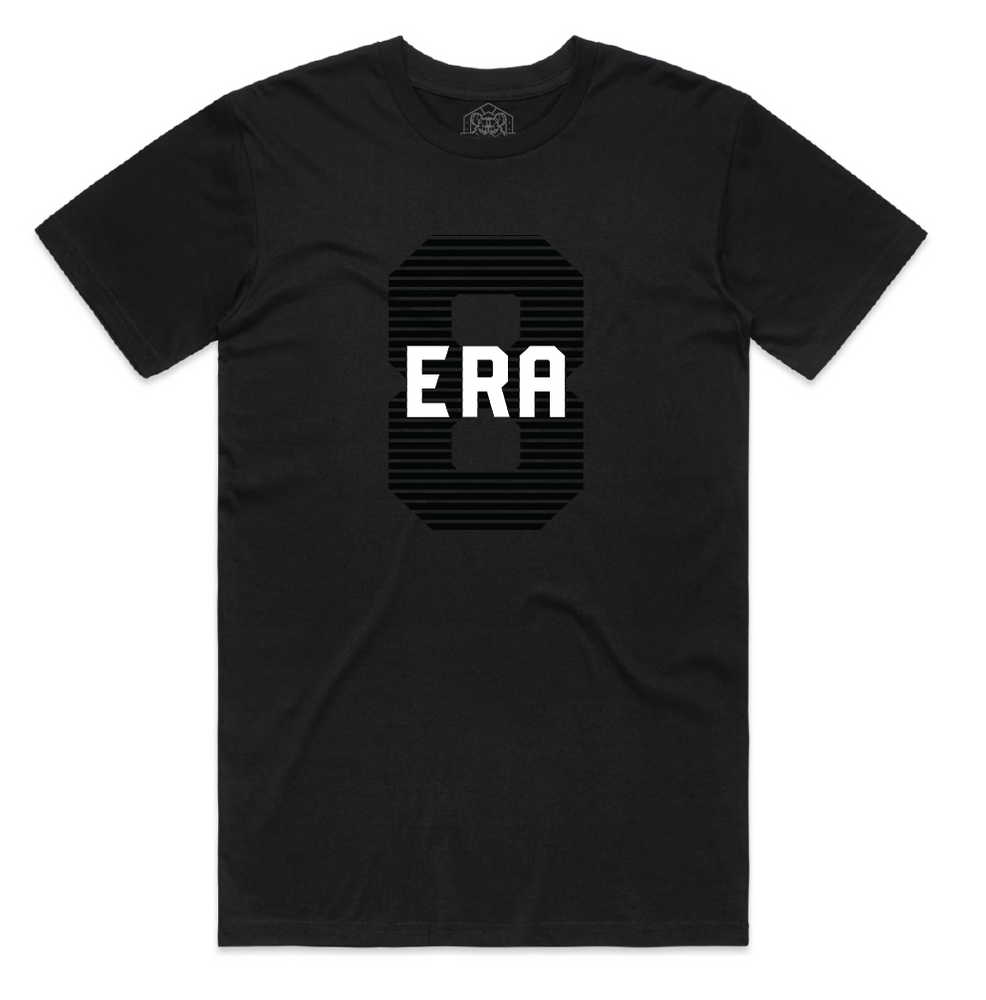 """ERA8 Center Piece"" Staple Tee (Black/Black)"