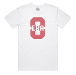"""ERA8 Center Piece"" Staple Tee (White/Red)"