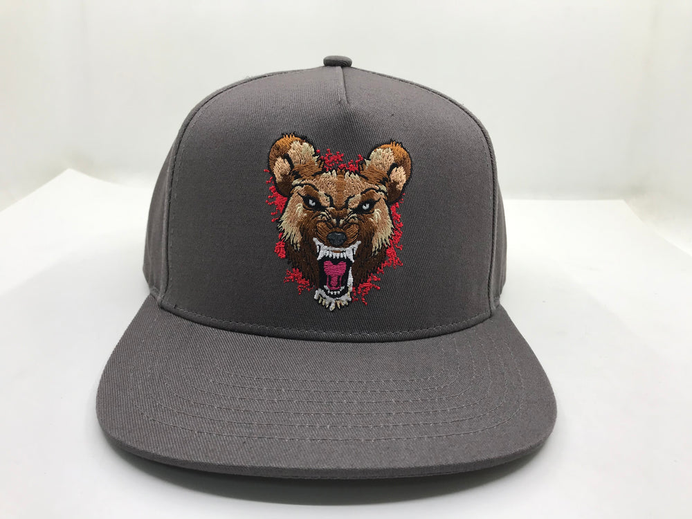 Wild Dog (Red) Grey Snapback Hat