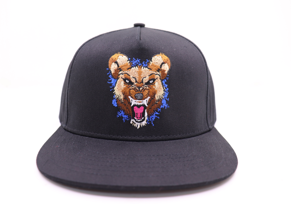 Wild Dog (Blue) Black Snap Back Hat