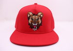 Wild Dog (Black) Red Snapback Hat