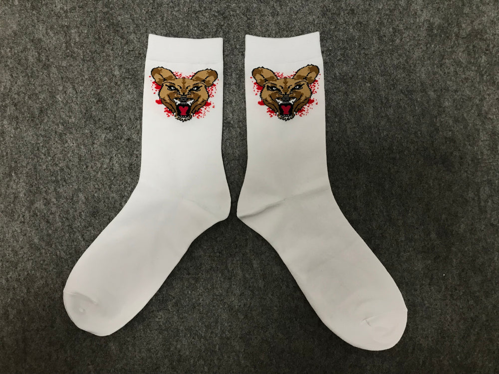 Wild Dogs Socks White (Red) Splash