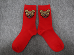 Wild Dog Socks Red (Black Splash)