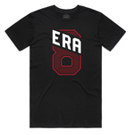 """ERA8 Slant"" Staple Tee (Black/Red)"