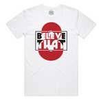 """Believe That"" Staple Tee (White/Red)"