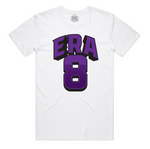 """ERA8 Block"" Staple Tee (White/Purple)"