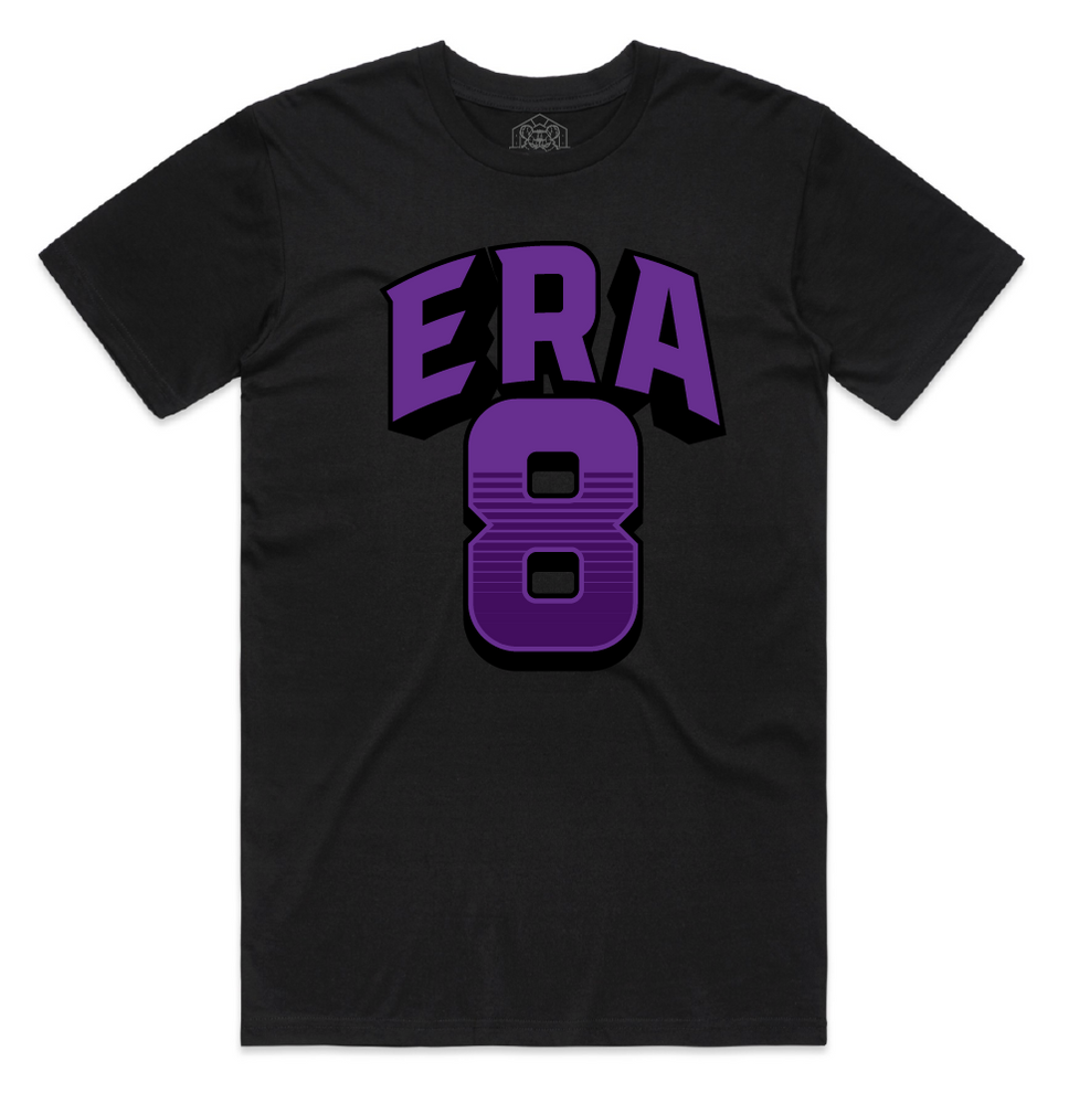 """ERA8 Block"" Staple Tee (Black/Purple)"