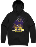 """Action Jackson Athletic"" HOODED PULLOVER SWEATSHIRT (BLACK)"