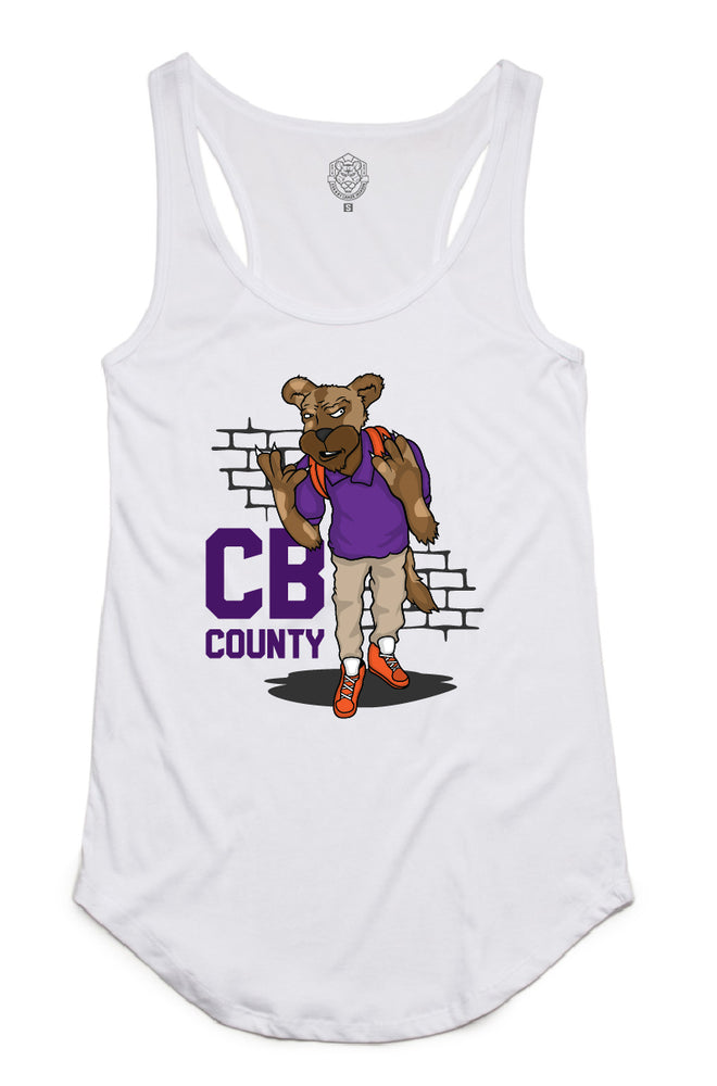 """CB Goon"" White Women's Dash Tank"