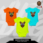 Baby Boy Wild Dog Oneies