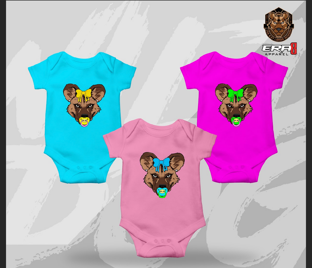 Baby Girl Wild Dog Onesies