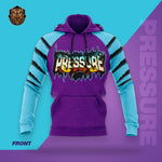 """Pressure"" Blue/Purple Hooded Pullover Sweatshirt"