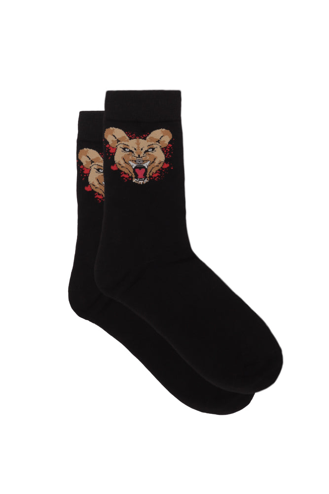 Wild Dog Crew Socks Black (Red) Splash