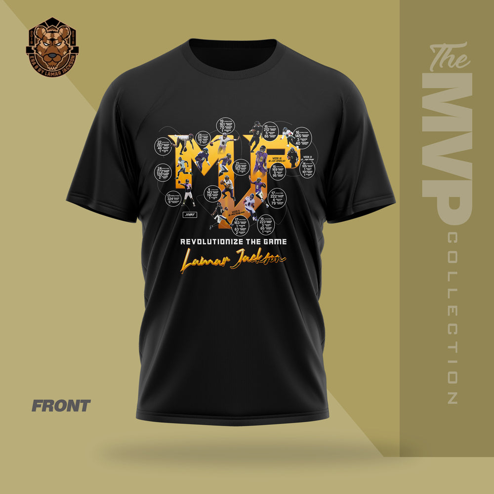 Limited Edition 2019 MVP Lamar Jackson Shirt (BLACK)