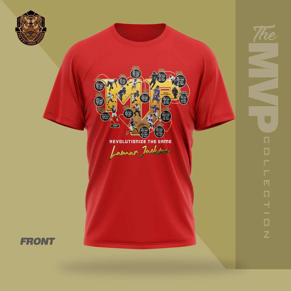 Limited Edition 2019 MVP Lamar Jackson Shirt (RED)