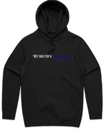 """Not Bad For a Running Back"" HOODED PULLOVER SWEATSHIRT (BLACK)"