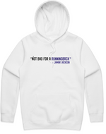 """Not Bad For a Running Back"" HOODED PULLOVER SWEATSHIRT (WHITE)"
