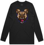 """WILD DOG"" LONG SLEEVE BLACK SHIRT (Purple)"